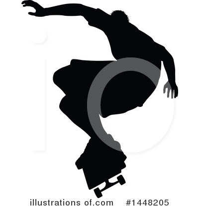 Skateboarding Clipart #1448205 by AtStockIllustration