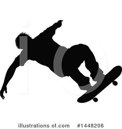 Skateboarding Clipart #1448206 by AtStockIllustration