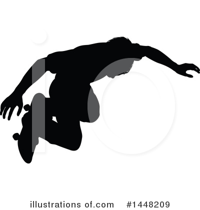 Skateboarding Clipart #1448209 by AtStockIllustration