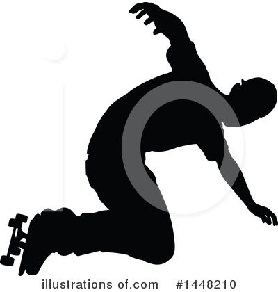 Skateboarding Clipart #1448210 by AtStockIllustration