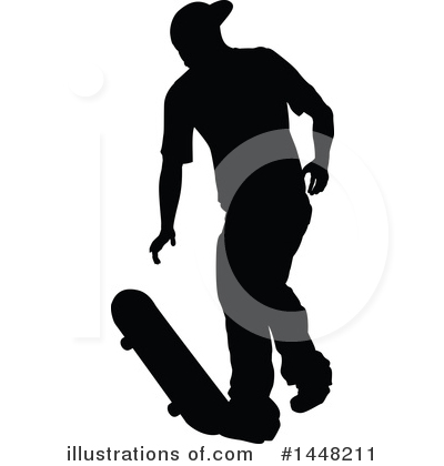 Skateboarding Clipart #1448211 by AtStockIllustration