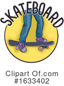 Skateboarding Clipart #1633402 by BNP Design Studio