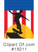 Royalty-Free (RF) skateboarding Clipart Illustration #19211
