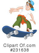 Royalty-Free (RF) Skateboarding Clipart Illustration #231638