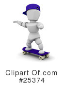 Royalty-Free (RF) Skateboarding Clipart Illustration #25374