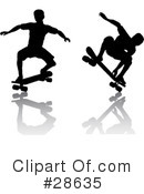 Royalty-Free (RF) Skateboarding Clipart Illustration #28635