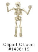 Skeleton Clipart #1408119 by AtStockIllustration