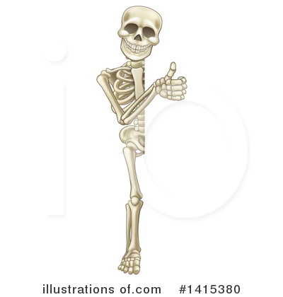 Skeleton Clipart #1415380 by AtStockIllustration