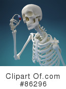 Royalty-Free (RF) Skeleton Clipart Illustration #86296