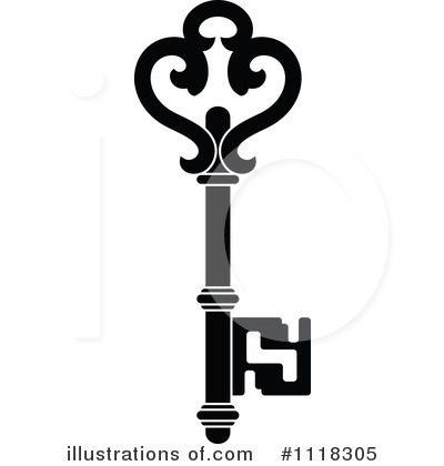 Skeleton Key Clipart #1118305 by Vector Tradition SM