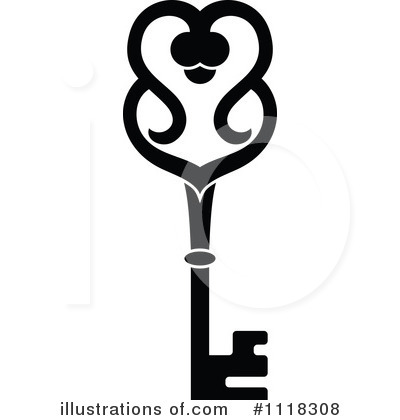 Skeleton Key Clipart #1118308 by Vector Tradition SM