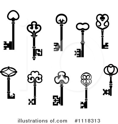 Skeleton Key Clipart #1118313 by Vector Tradition SM
