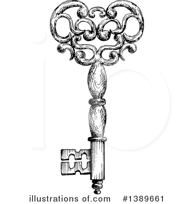 Skeleton Key Clipart #1389661 by Vector Tradition SM
