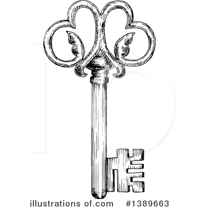 Skeleton Key Clipart #1389663 by Vector Tradition SM
