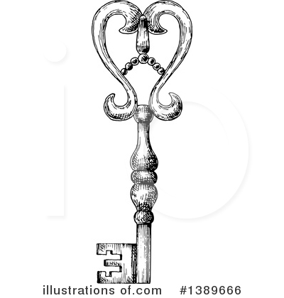Skeleton Key Clipart #1389666 by Vector Tradition SM