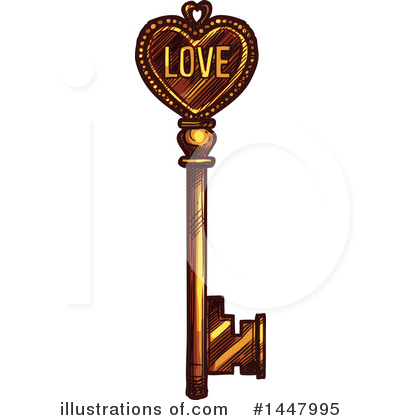 Skeleton Key Clipart #1447995 by Vector Tradition SM