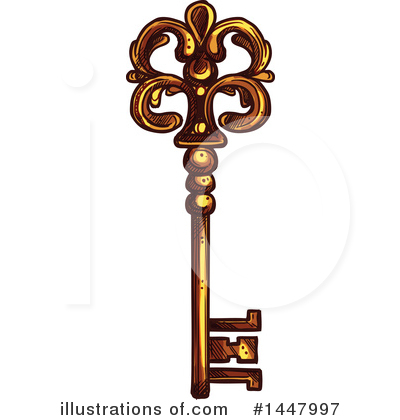 Skeleton Key Clipart #1447997 by Vector Tradition SM