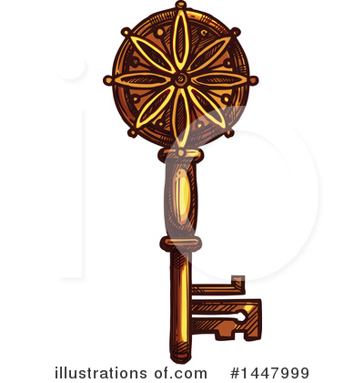 Skeleton Key Clipart #1447999 by Vector Tradition SM