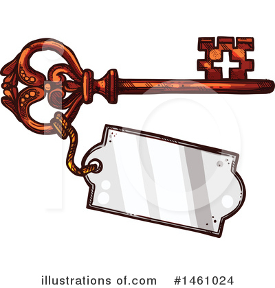 Skeleton Key Clipart #1461024 by Vector Tradition SM