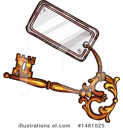 Skeleton Key Clipart #1461025 by Vector Tradition SM