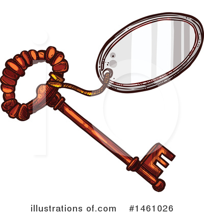 Skeleton Key Clipart #1461026 by Vector Tradition SM