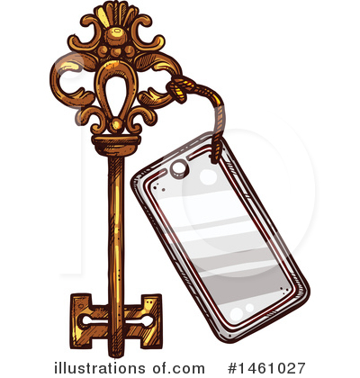Skeleton Key Clipart #1461027 by Vector Tradition SM