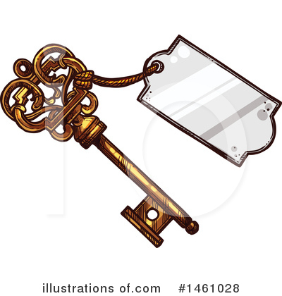 Skeleton Key Clipart #1461028 by Vector Tradition SM