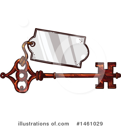 Skeleton Key Clipart #1461029 by Vector Tradition SM