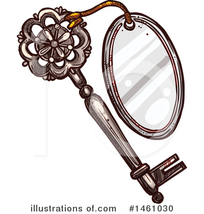 Skeleton Key Clipart #1461030 by Vector Tradition SM