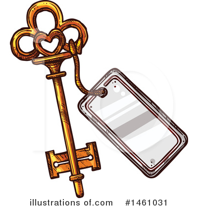 Skeleton Key Clipart #1461031 by Vector Tradition SM