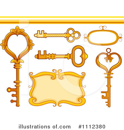 Skeleton Key Clipart #1112380 by BNP Design Studio