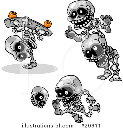 Skeletons Clipart #20611 by Tonis Pan