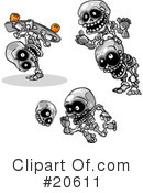 Royalty-Free (RF) Skeletons Clipart Illustration #20611