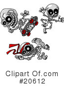 Royalty-Free (RF) Skeletons Clipart Illustration #20612