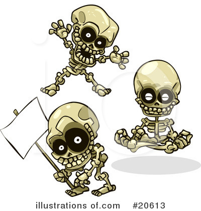 Royalty-Free (RF) Skeletons Clipart Illustration by Tonis Pan - Stock Sample #20613