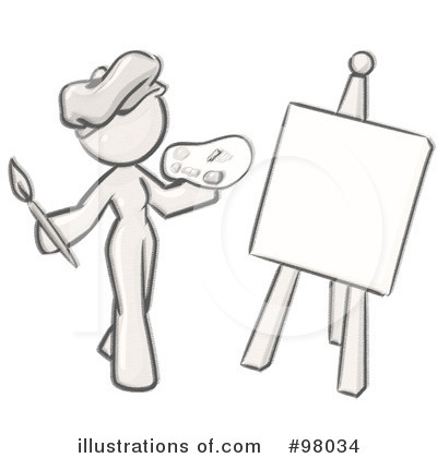 Painter Clipart #98034 by Leo Blanchette
