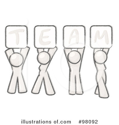 Sketched Design Mascot Clipart #98092 by Leo Blanchette