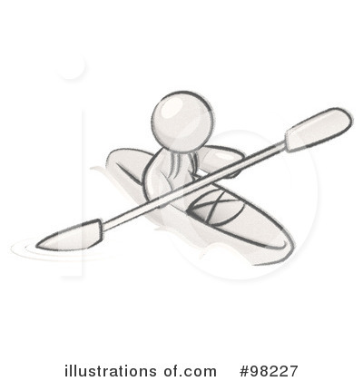 Kayaker Clipart #98227 by Leo Blanchette