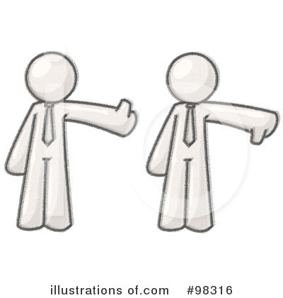 Thumbs Down Clipart #98316 by Leo Blanchette