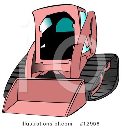 Skid Loader Clipart #12956 - Illustration by djart