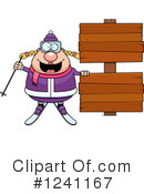 Skier Clipart #1241167 by Cory Thoman