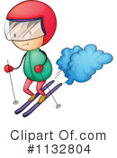 Skiing Clipart #1132804 by Graphics RF
