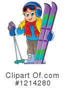 Skiing Clipart #1214280 by visekart