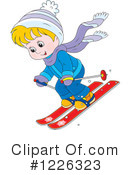 Skiing Clipart #1226323 by Alex Bannykh
