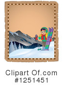 Skiing Clipart #1251451