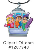Skiing Clipart #1287948 by visekart