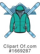Skiing Clipart #1669287 by Vector Tradition SM