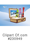Skiing Clipart #230949