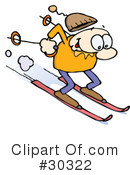Skiing Clipart #30322 by gnurf