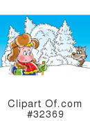 Skiing Clipart #32369